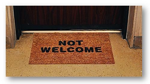 mat - not welcome