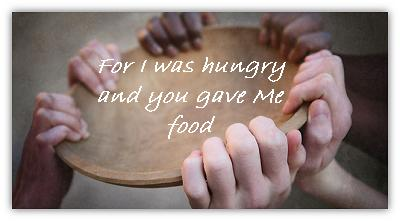 giving food to others